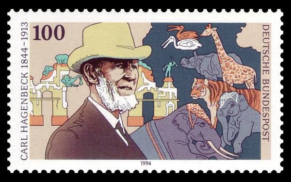 Carl Hagenbeck auf Briefmarke von 1994 Stamp