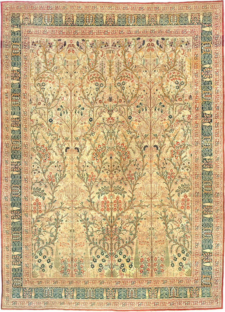 Antique Rug, Antique Persian Tabriz, #3247 From The Nazmiyal Collection.  Http: