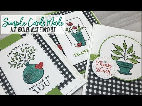 3 Card with Just Becasue Host Set - YouTube   cards   Cards