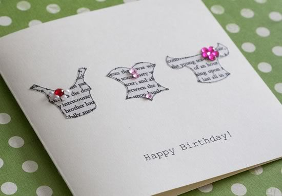 Printable Birthday Stationery Paper ~ How to make a gorgeous greeting card out of the pages of jane