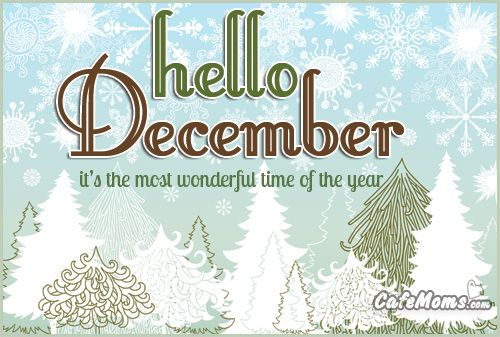 High Quality Hello December The Wonderful Time Of The Year Graphic Plus Many Other High  Quality Graphics For Your Facebook Profile At CafeMoms.com.