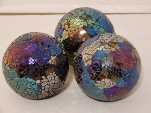 Decorative Glass Balls For Bowls Decorative Mirrored Crackle Glass Balls For Decorating Bowls 4