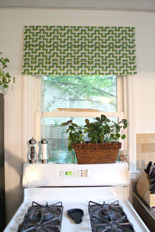 Do It Yourself Window Treatments: Do-it-yourself Fake Roman Shade Tutorial Via Tenjuneblog