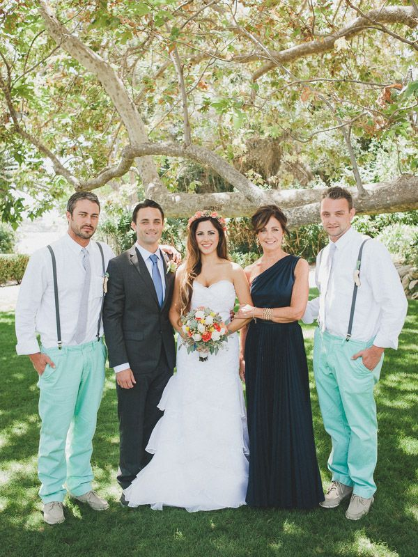Wooden Sign Mint and Peach Wedding | Wedding, Wedding ...