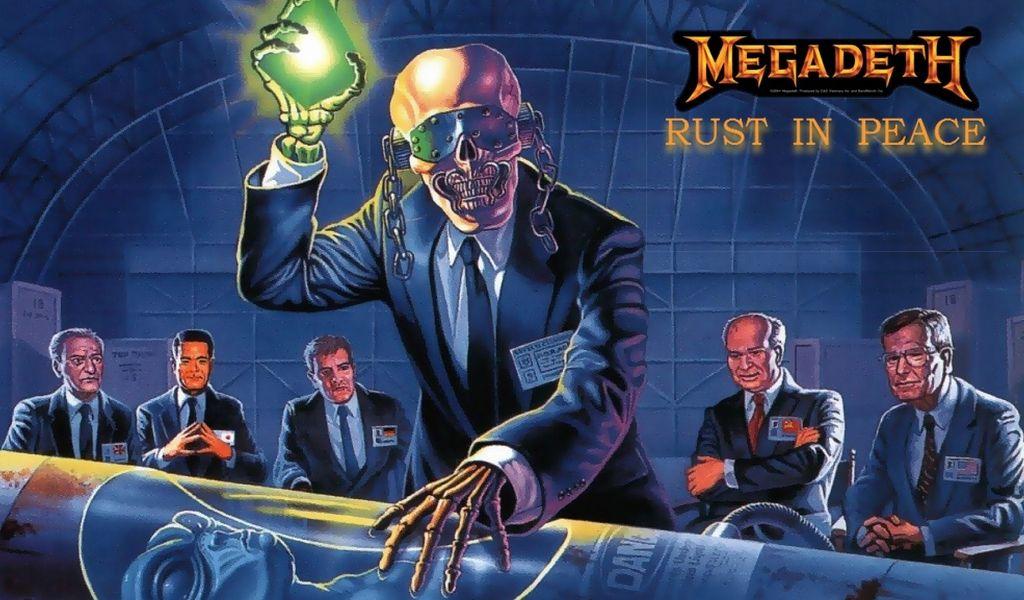 Megadeth cover wallpaper rust in peace wallpaper