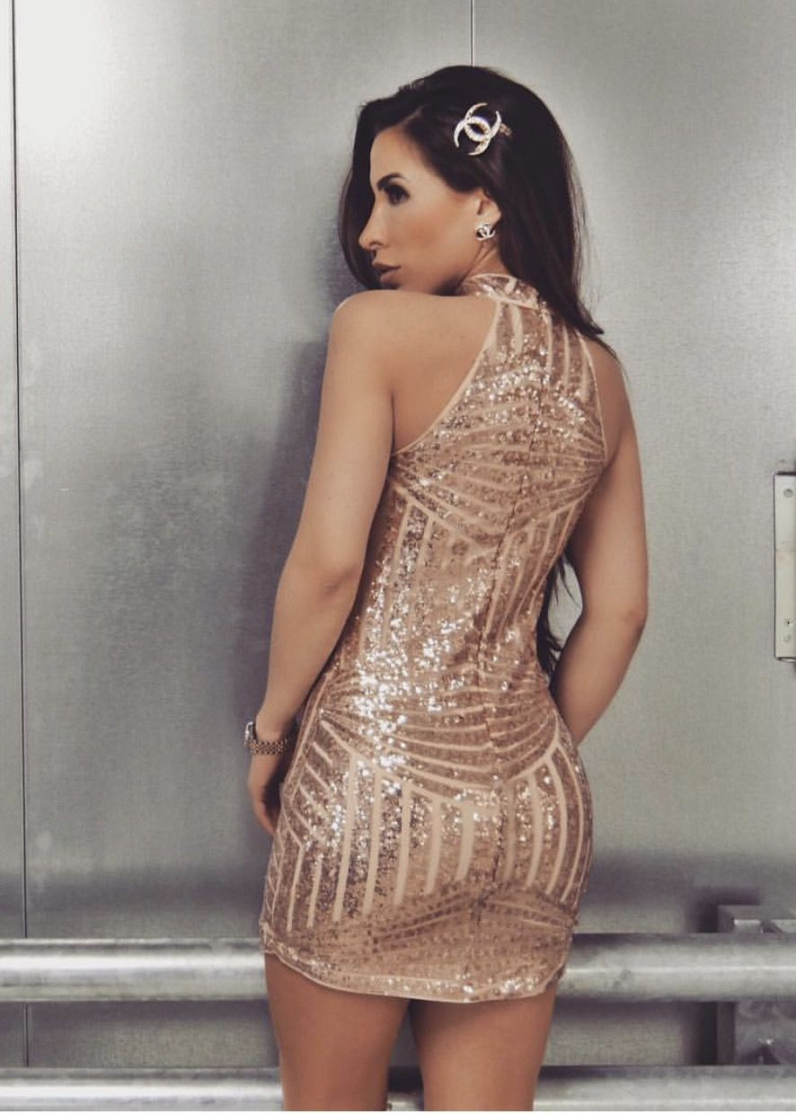 Adriana\' dress nude sequins is such a pretty dress Starlet Store ...