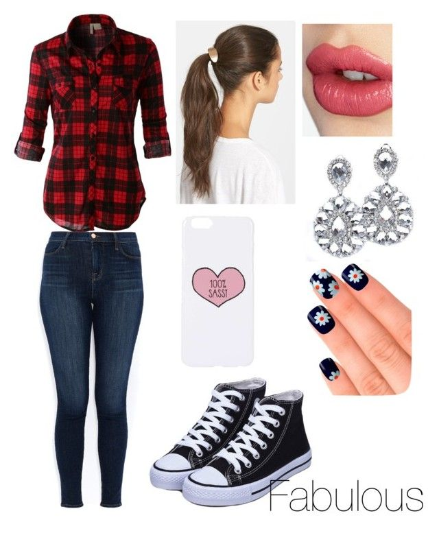 """""""Back To School"""" by mikeypowell ❤ liked on Polyvore featuring LE3NO, J Brand, Tasha, Topshop, Charlotte Tilbury and Elegant Touch"""