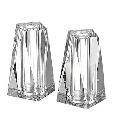 Oleg Cassini Crystal Salt Pepper Set Salt And Pepper Shakers