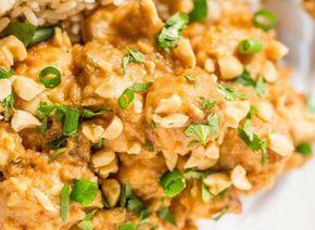 Recette facile de poulet thaïlandais aux arachides dans la mijoteuse