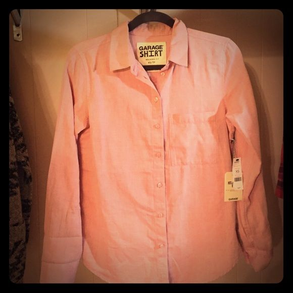 NWT Garage Clothing Relaxed Fit Button Down Shirt NWT