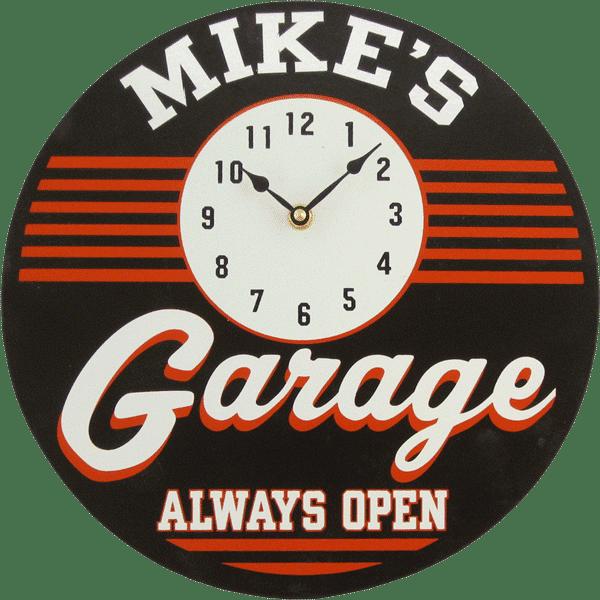 Personalized Wooden Retro Garage Clock #mancavegarage