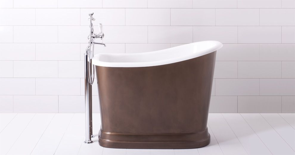 Small soaking tubs with shower soaking deep bath tubs for Best freestanding tub material