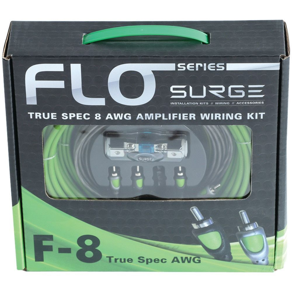 Surge Flo Series Amp Installation Kit (8 Gauge 800 Watts) | Gauges ...