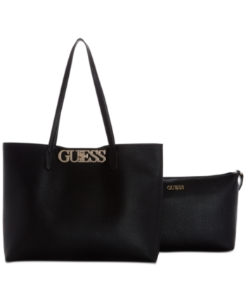 5d360f957caa Guess Uptown Chic Barcelona 2-in-1 Tote - Black | Products in 2019 ...