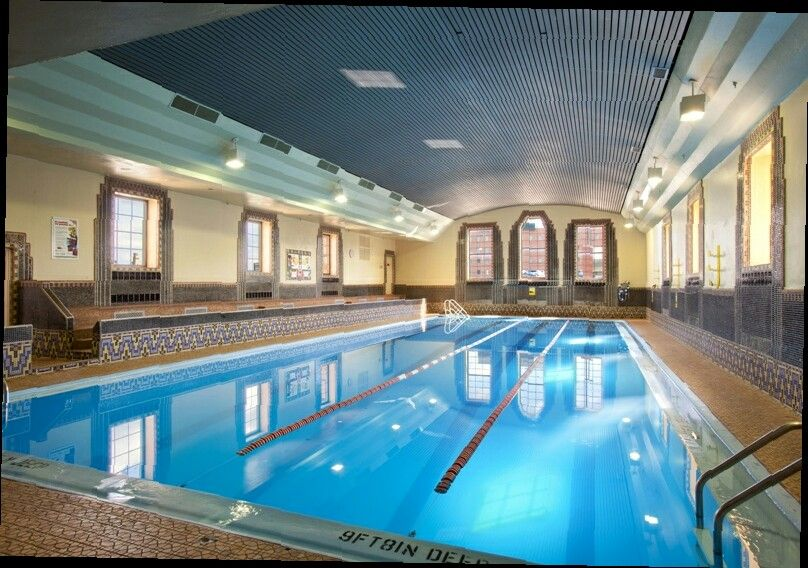 The pool within the Canal Park YMCA, with its beautiful