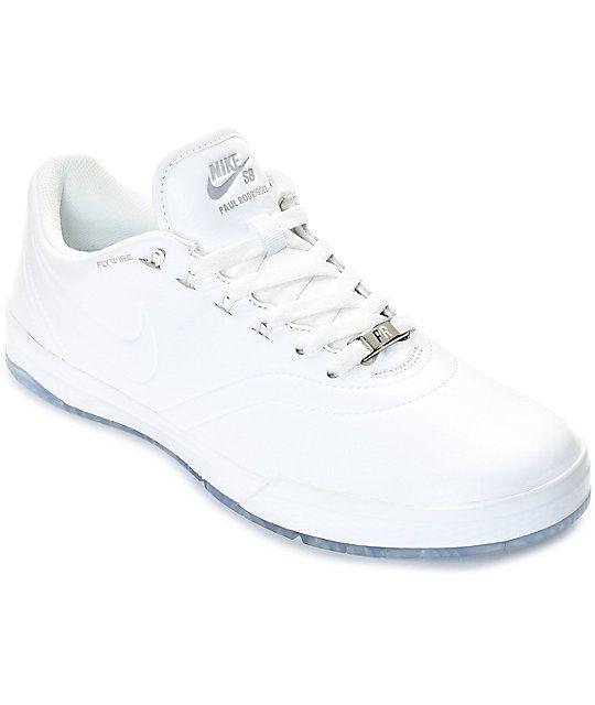 Nike SB P-Rod 9 Elite White Leather Skate Shoes