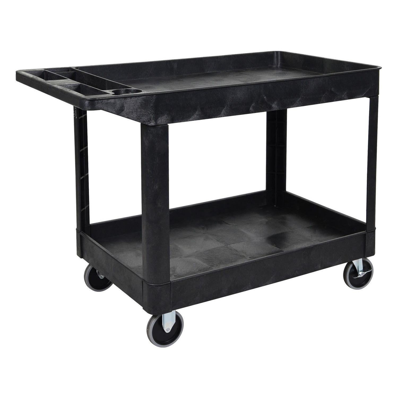 offex xlc11b black 2shelf heavyduty utility cart by offex