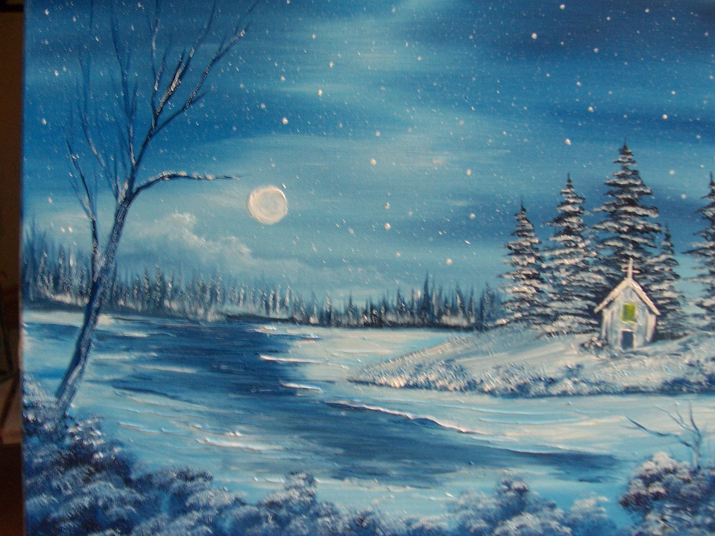 Christmas Eve Www Paintwithvicki Com An Original By Vicki