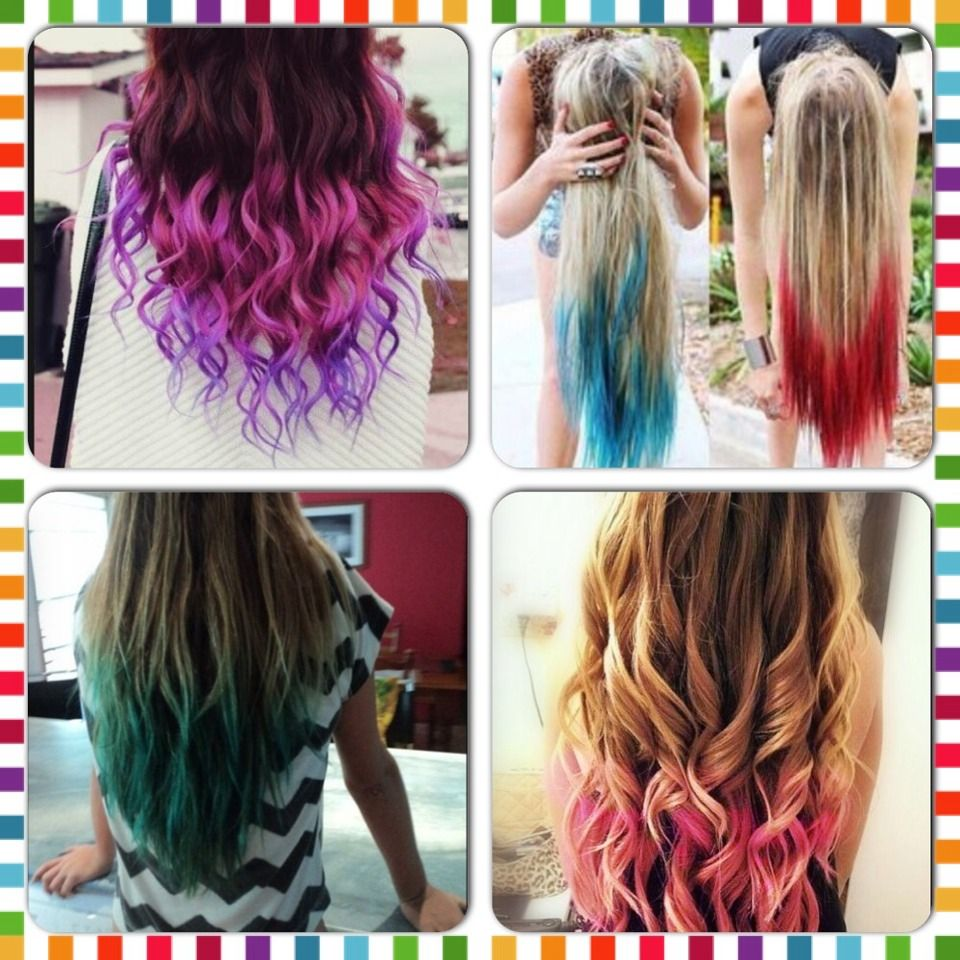 How To Dip Dye Your Hair With Kool Aid Hair Pinterest Dyed