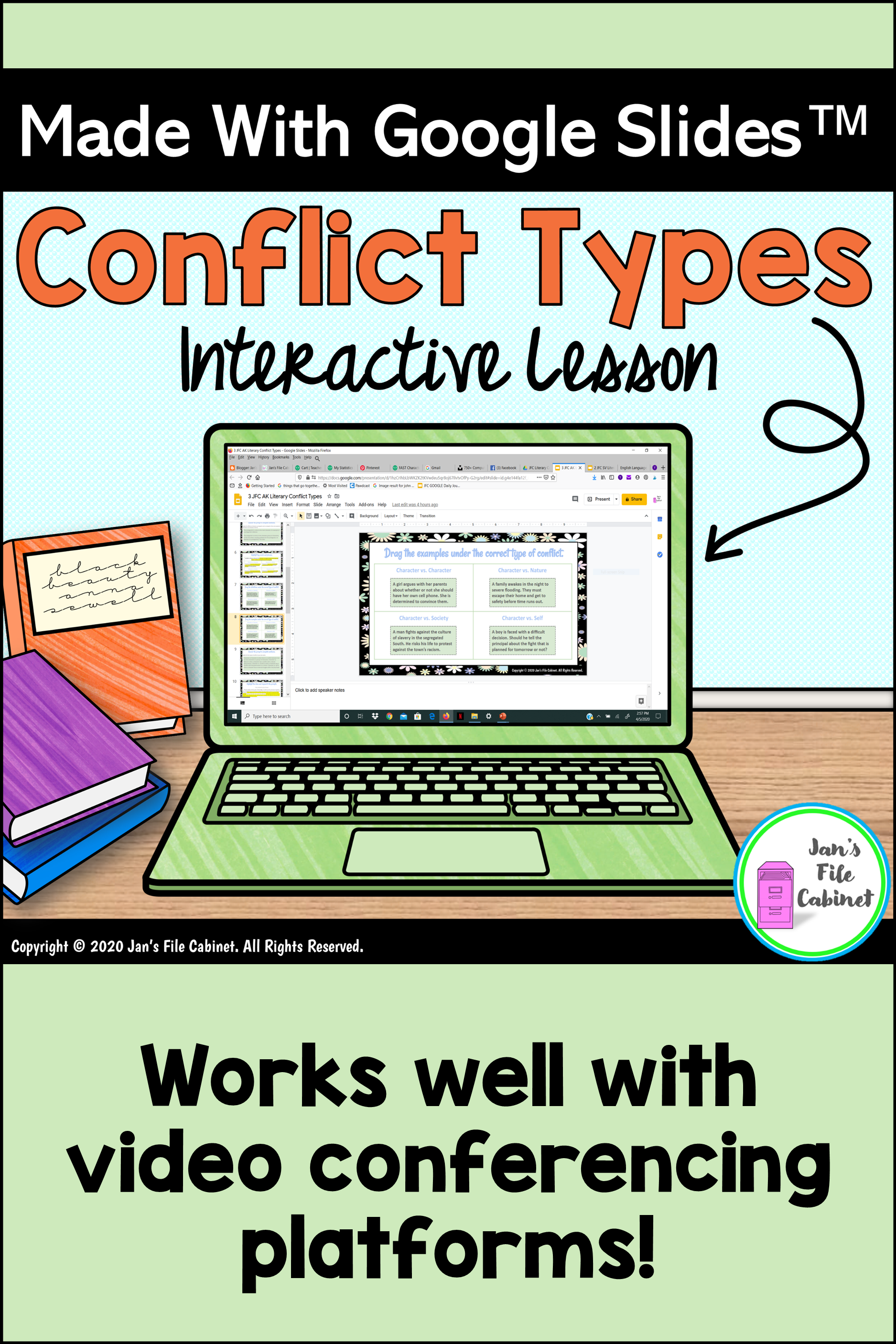Types Of Conflict Interactive Slides Lesson In