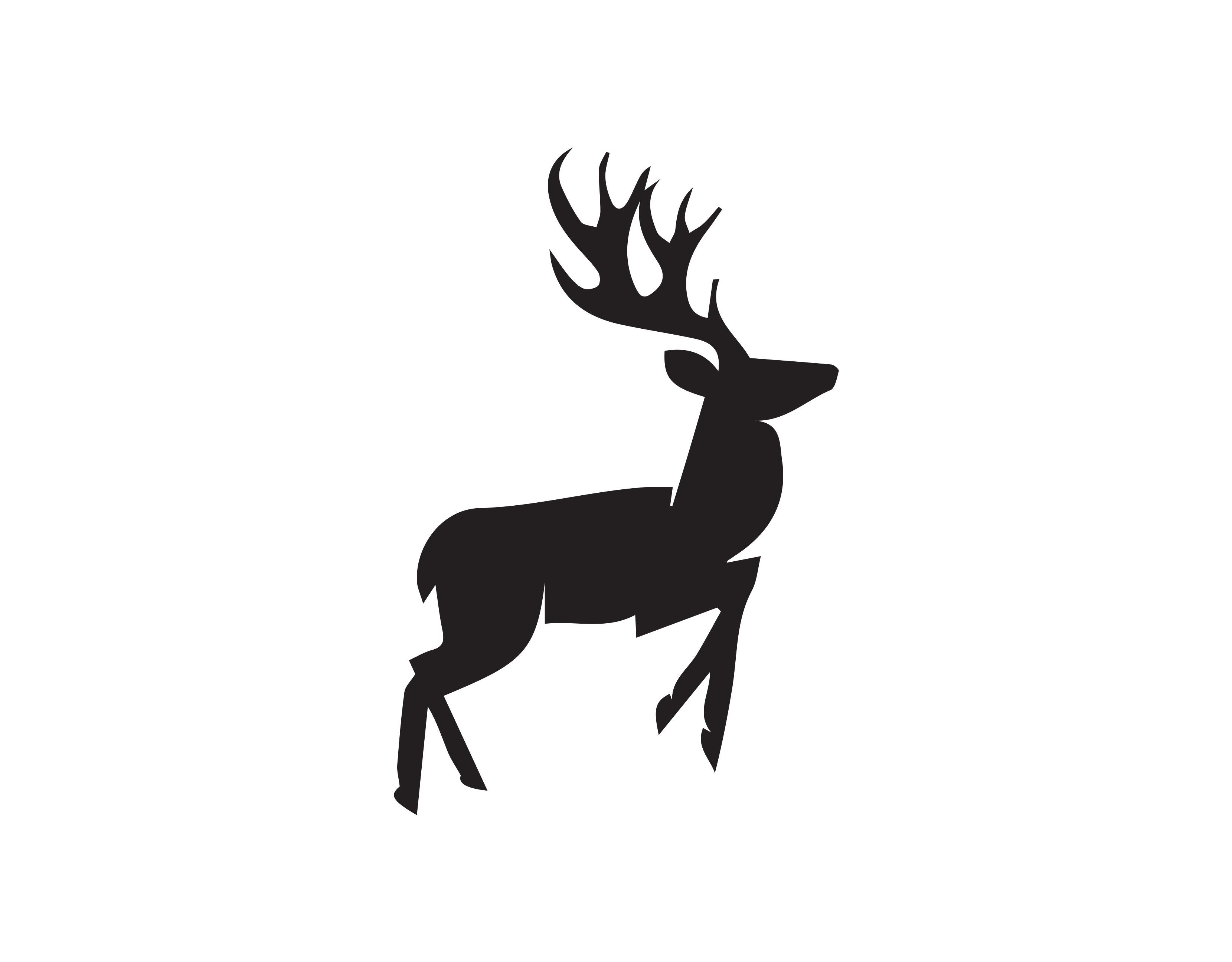 Galloping Deer Decal In