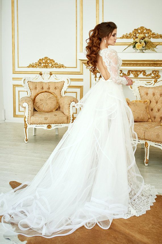 Wedding Dress Renaissance Lace Wedding Dress Bohemian | wedding ...