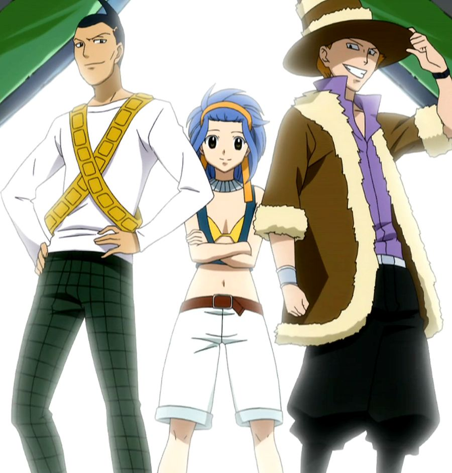 Shadow Gear Levy McGarden, Jet, and Droy (Fairy Tail