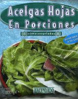 """Acelgas en hojas congeladas """"Hacendado"""" En porciones - Producto"""