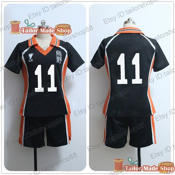 Haikyuu Tsukishima Kei Volleyball Sports Jersey No.11 Uniform Cosplay Costume