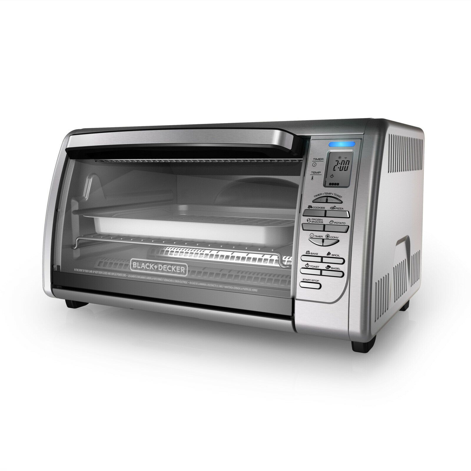 Black Decker Countertop Convection Toaster Oven Stainless Steel