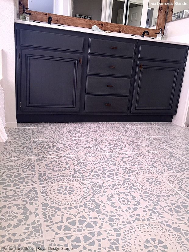 Tips For Painting Bathroom Tile With Floor Stencils For The Home