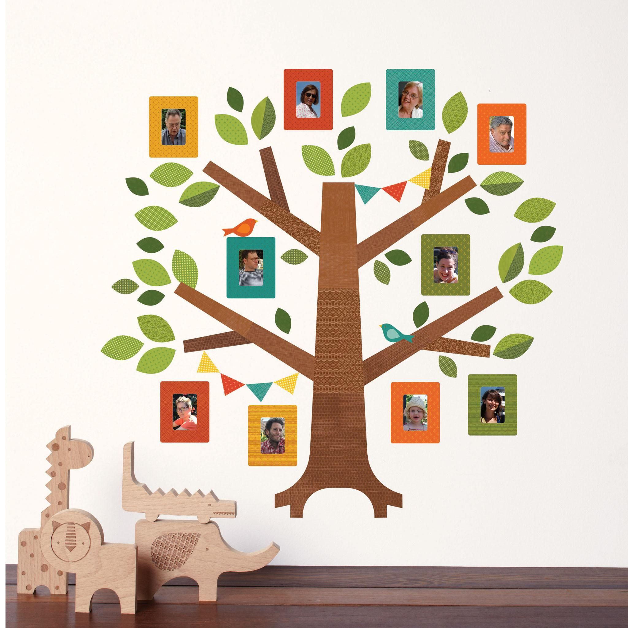 Family Tree Decor For Wall cute-family-tree-wall-decal-for-kids (2048×2048) | baby stuff