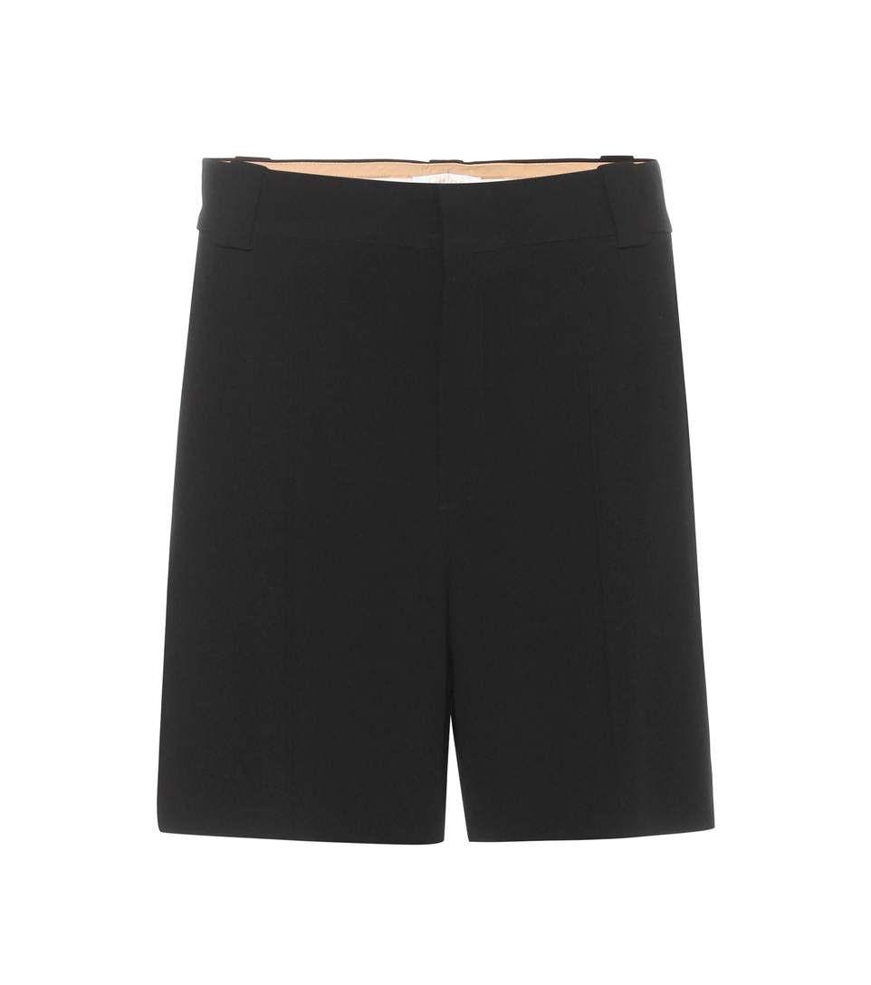Black crêpe shorts