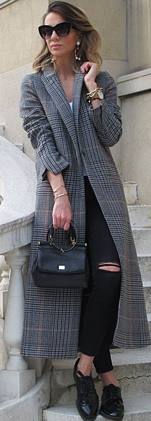 Zara Longline Coat Fall Streetstyle Inspo #Bonjour