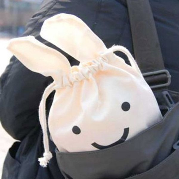 Mini Cute Ninja Rabbit Storage Bag Case Pouch 34 x 21cm