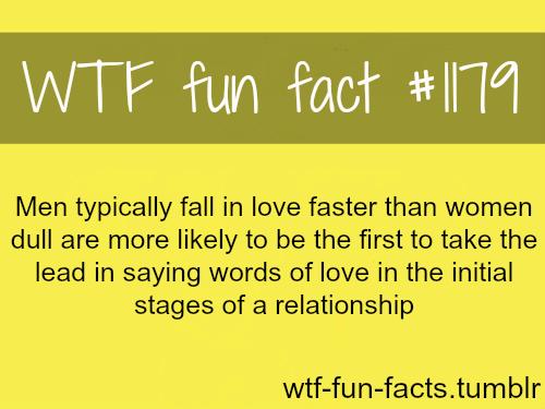 Men fall in love faster - men psychology MORE OF WTF-FUN