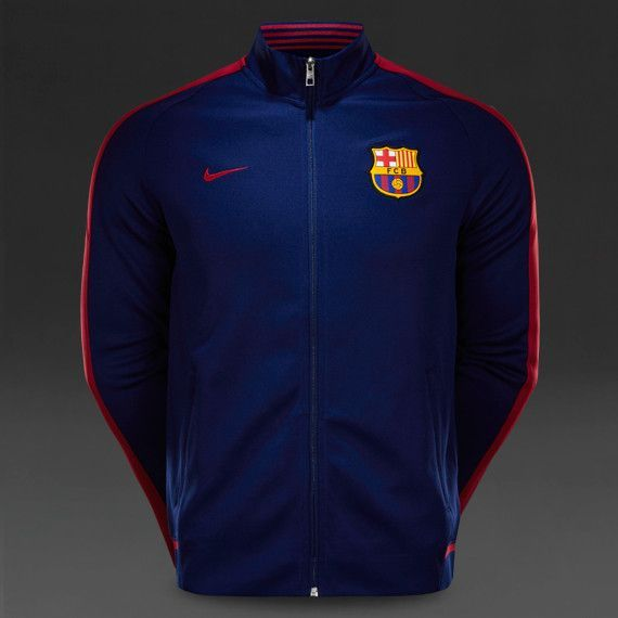 31c6b473501 Barcelona 2015/16 Home Men Training N98 Jacket-Blue | FC BARCELONA ...