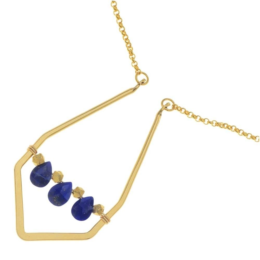 Lapis Lazuli Diamond Pendant Necklace - Beading Projects & Tutorials ...