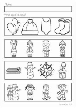 winter preschool no prep worksheets activities worksheets literacy and math. Black Bedroom Furniture Sets. Home Design Ideas