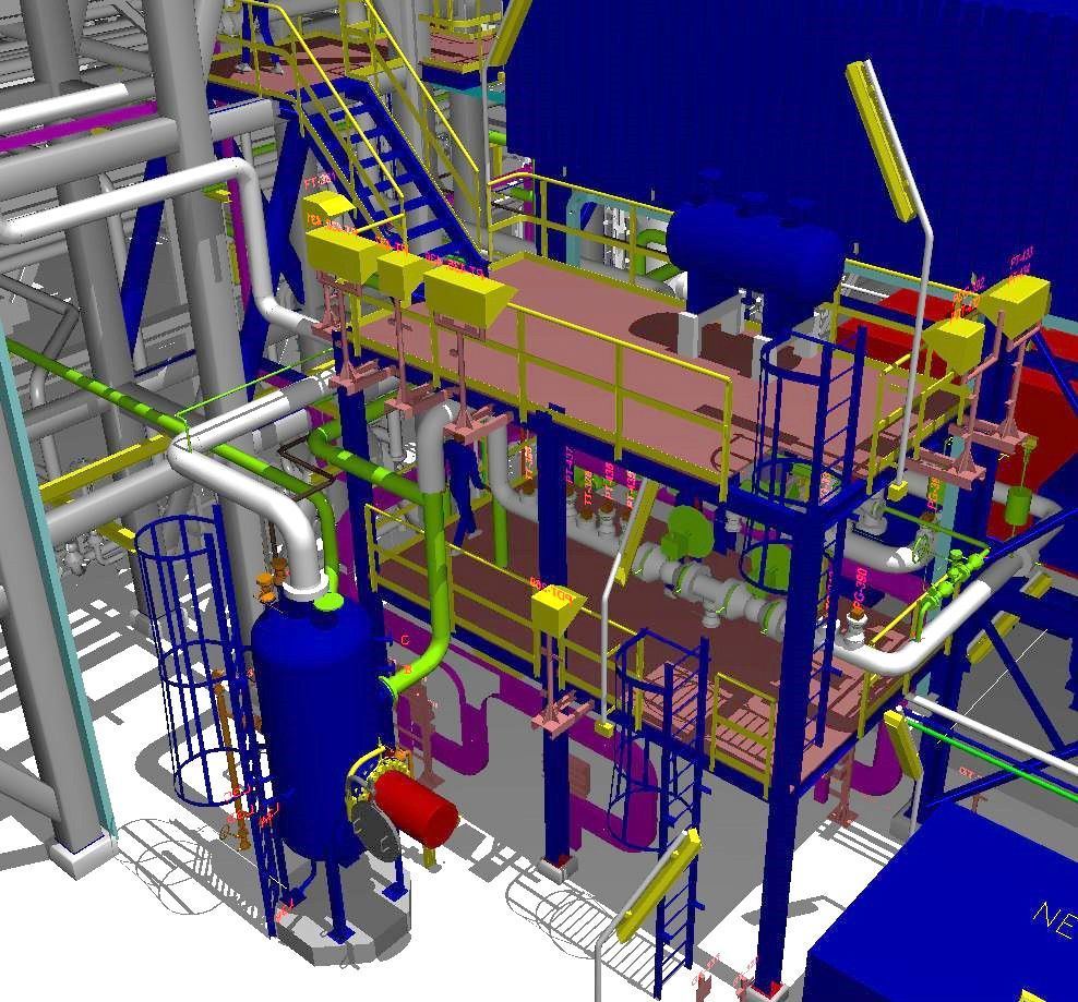 3d model for natural gas condensate plant using autoplant ss4 this activity modeling of equipment - Autoplant 3d