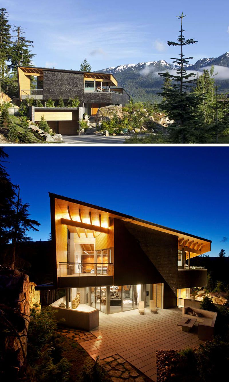 Examples Of Modern Houses With Sloped Roof Space