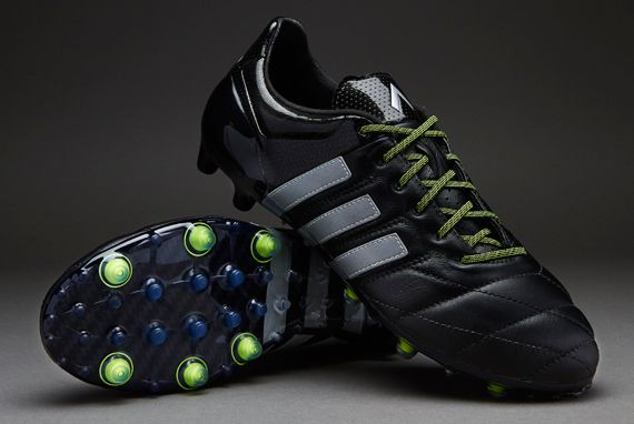 f660d7733 ... adidas ace 15.1 fg ag leather mens boots firm ground core black silver  metallic solar yellow
