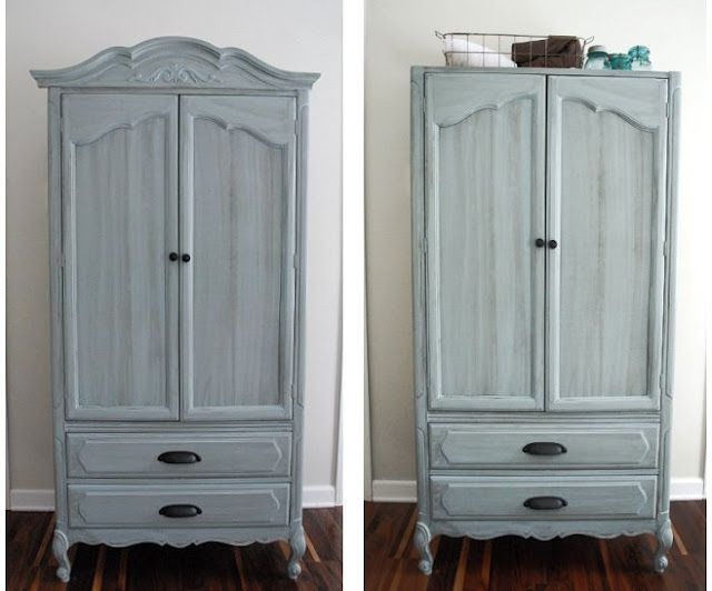 Distressed Blue Gray Armoire Inspiration For My New Old