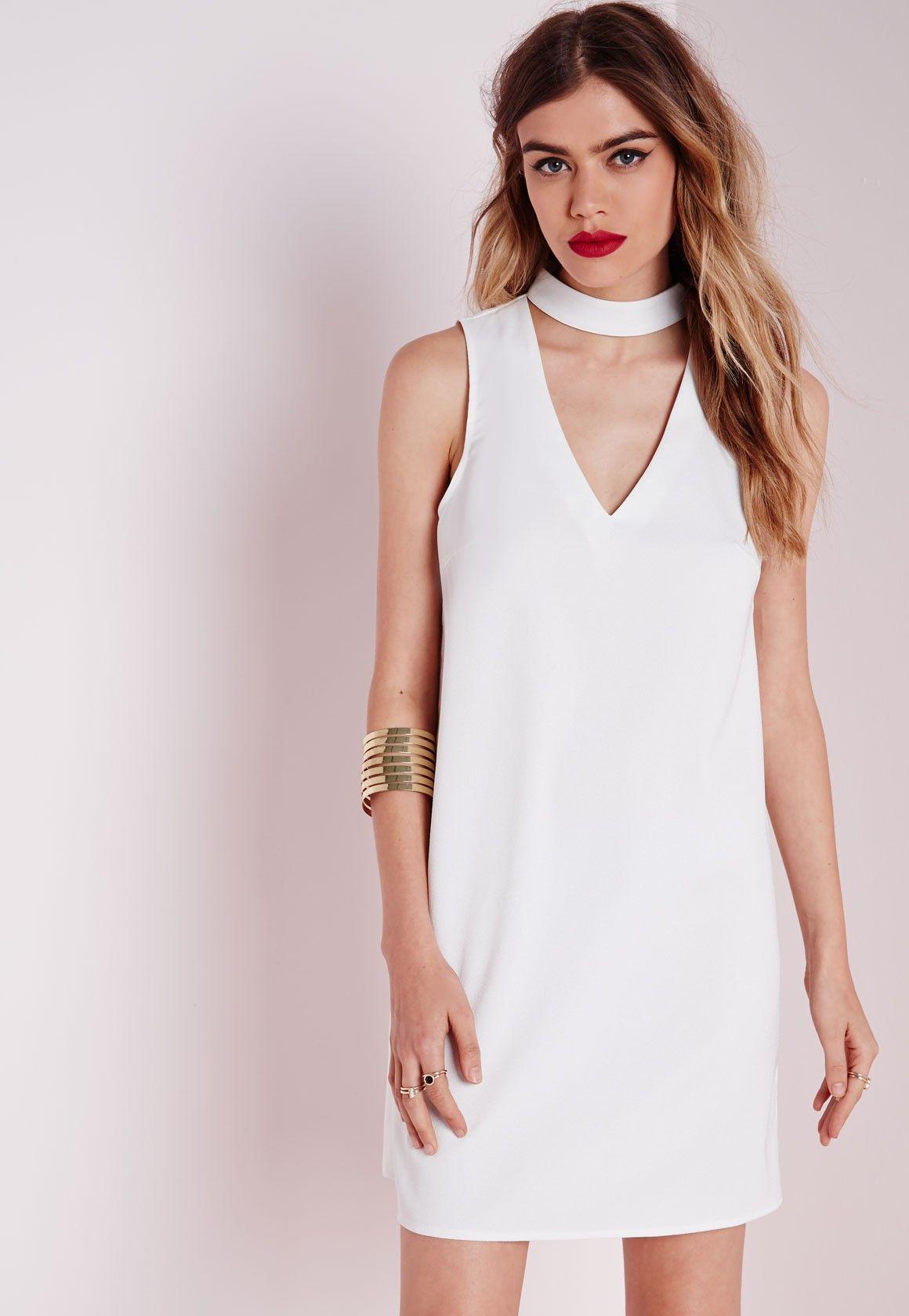 white dress v neckline