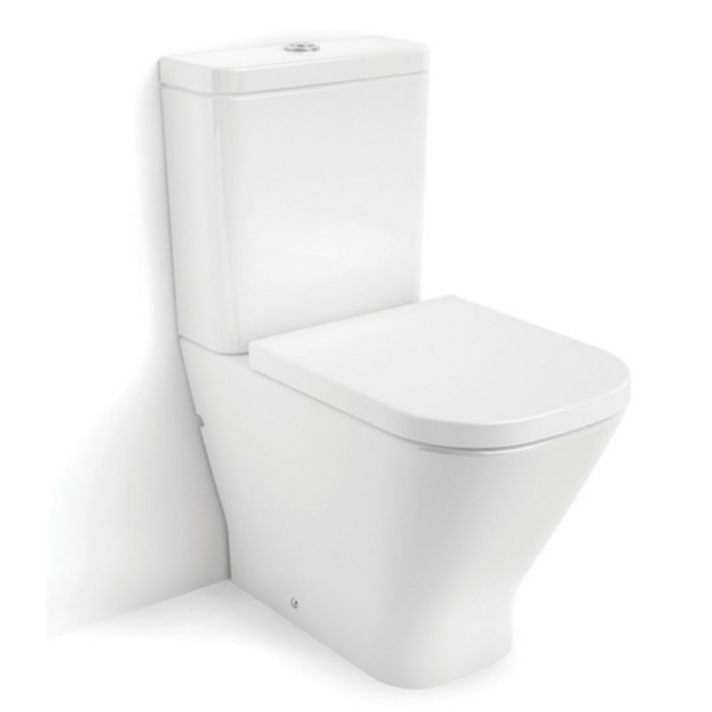 Roca The Gap Close Coupled Rimless Closed Back Toilet Pan