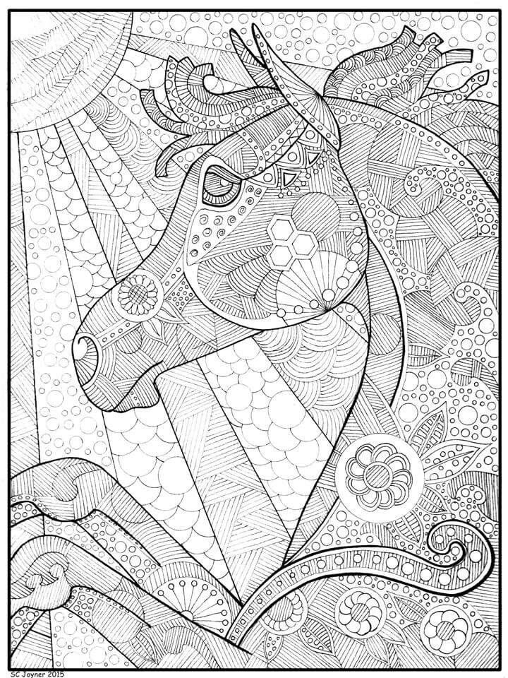 Horse coloring page animal coloring Pinterest Horse, Pallet - new animal coloring pages with patterns