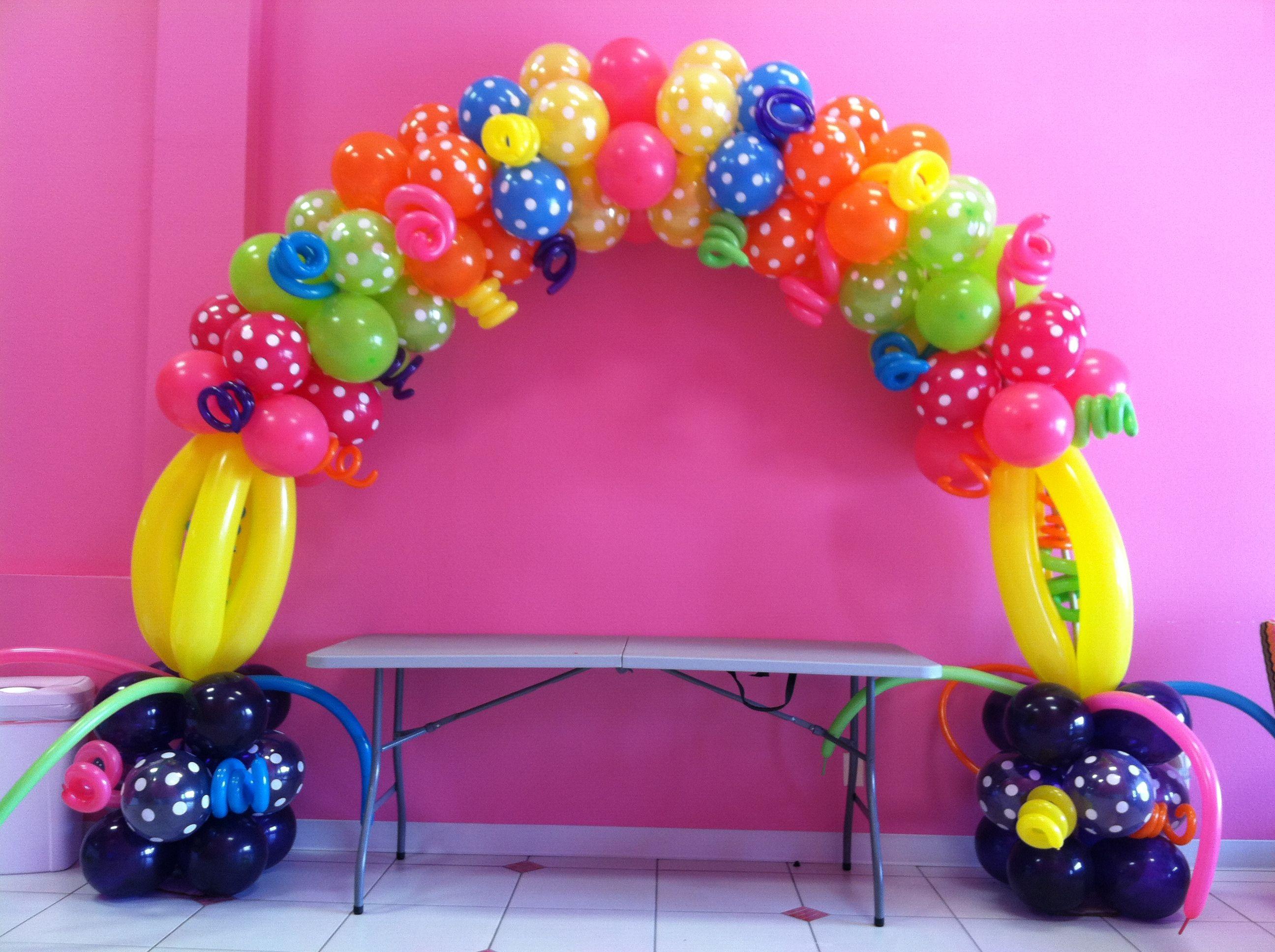 Lalaloopsy balloon arch balloon art lalaloopsy - Globos para fiesta ...