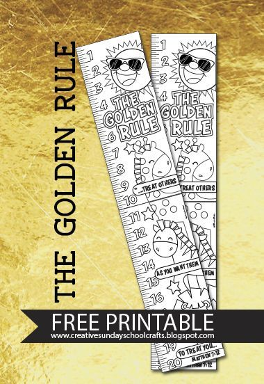 Golden Rule Free Printable Free Sunday School Printables