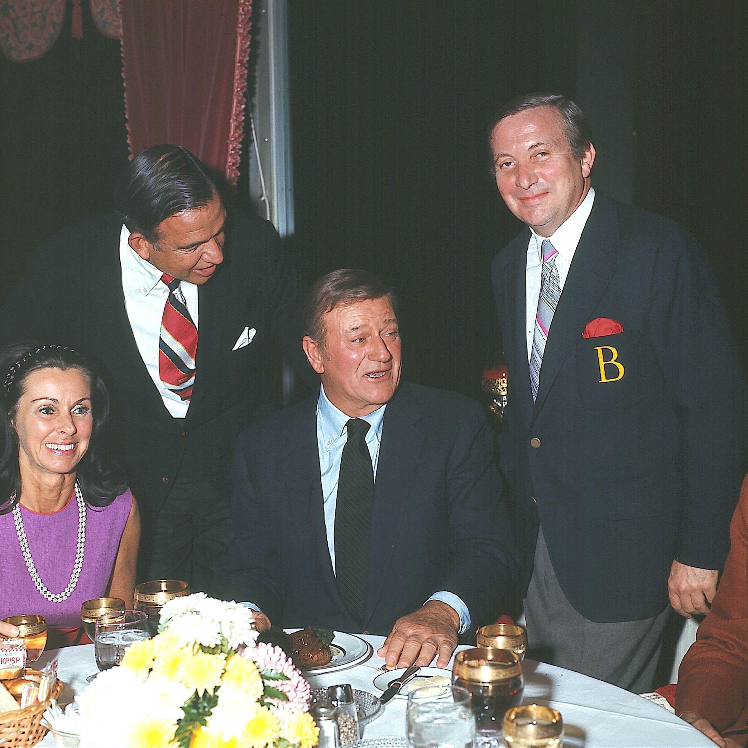 John Wayne Samples Continental Cuisine In The Penrose Room