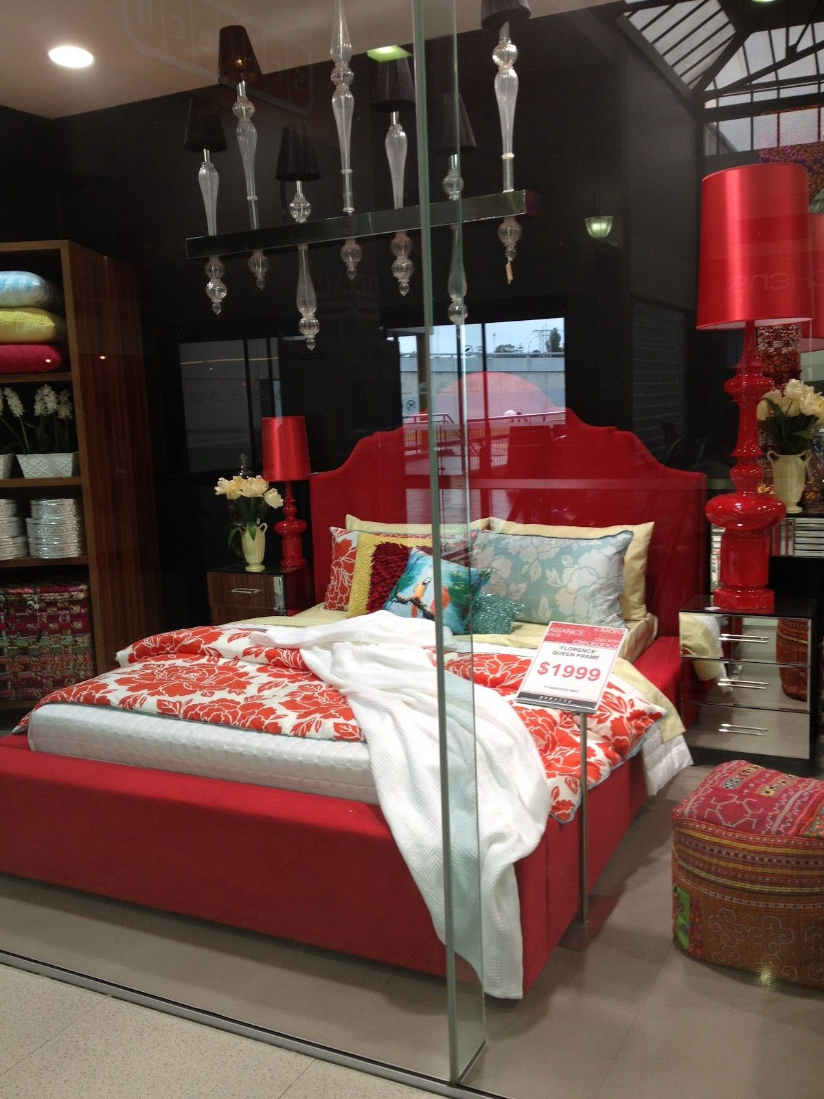 Loving this red bed from domayne . Very queen of hearts . | Virtual ...